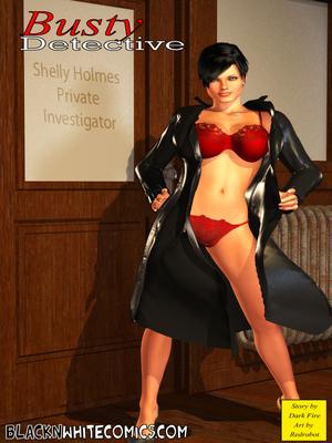 BlacknWhite-3D Busty Detective 8muses Interracial Comics