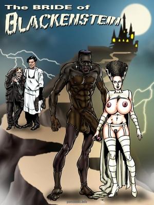 BlacknWhite- Bride of Blackenstein 8muses Interracial Comics