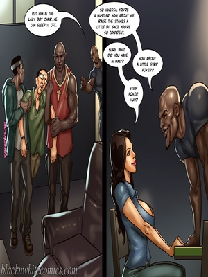 8muses Interracial Comics BlacknWhite- The Poker Game 2 image 11