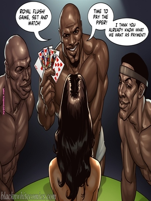 8muses Interracial Comics BlacknWhite- The Poker Game 2 image 19