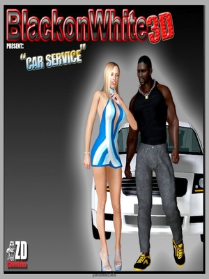 BlacknWhite3D- Car Service 8muses Interracial Comics