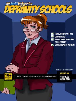 Depravity Schools- Dirty Drawings 8muses Adult Comics