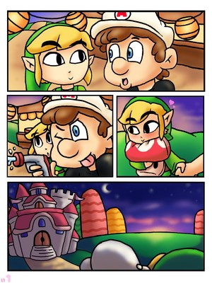 First Kiss (Legend of Zelda,Super Mario Bros) 8muses Adult Comics