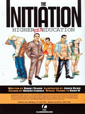 8muses Porncomics Gay-The Initiation Higher sex education image 02