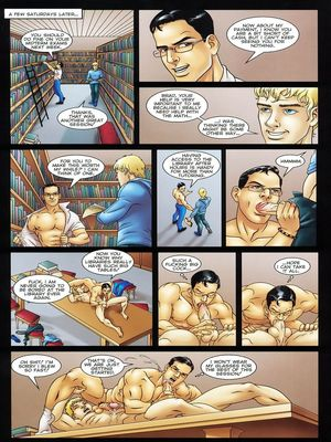 8muses Porncomics Gay-The Initiation Higher sex education image 09