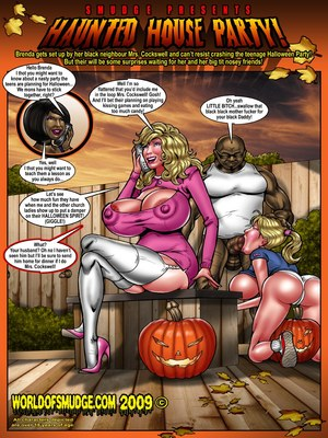 Haunted House Party- Smudge 8muses Interracial Comics