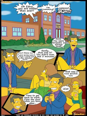 8muses Adult Comics Los Simpsons 5- New Lessons, Croc image 02