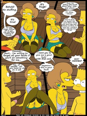 8muses Adult Comics Los Simpsons 5- New Lessons, Croc image 14