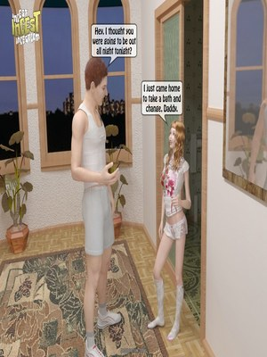 Lucky Daddy- Incest 8muses 3D Porn Comics