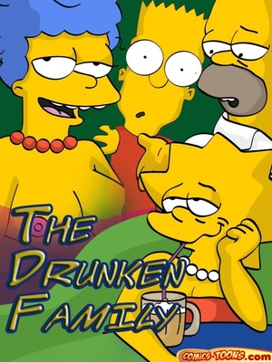 Simpsons- The Drunken Family 8muses Adult Comics