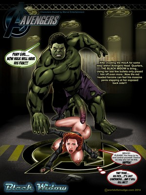 Smudge- Black Widow Vs The Hulk [The Avengers] 8muses Porncomics
