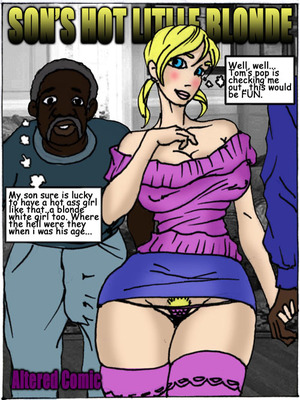 Son's Hot Little Blonde- Illustrated interracial 8muses Interracial Comics