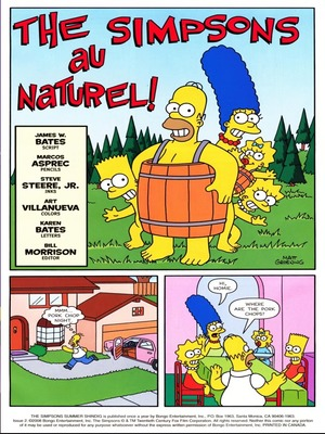 The Simpsons au Naturel! 8muses Incest Comics