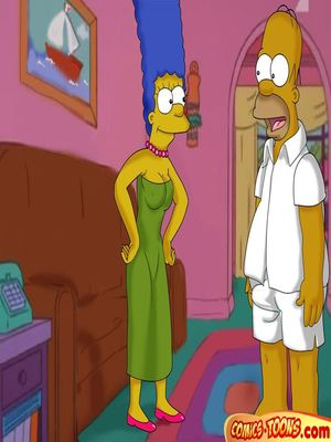 The Simpsons- Lustful Homer and Marge 8muses Cartoon Comics