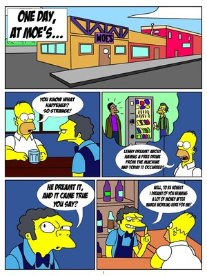 The Simpsons- One Day At Moe's 8muses Cartoon Comics
