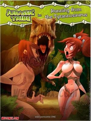 Welcomix- Jurassic Tribe 4- Running Tyrannosaurus 8muses Porncomics
