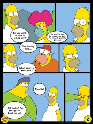 8muses Adult Comics Wit Simpsons- Drawn Sex image 02