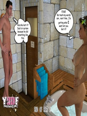 8muses Y3DF Comics Y3DF- Sauna with mom image 49