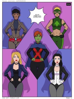 Young Justice- Supergreen 8muses Adult Comics