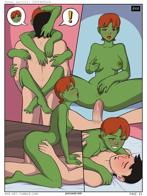 8muses Adult Comics Young Justice- Supergreen image 22
