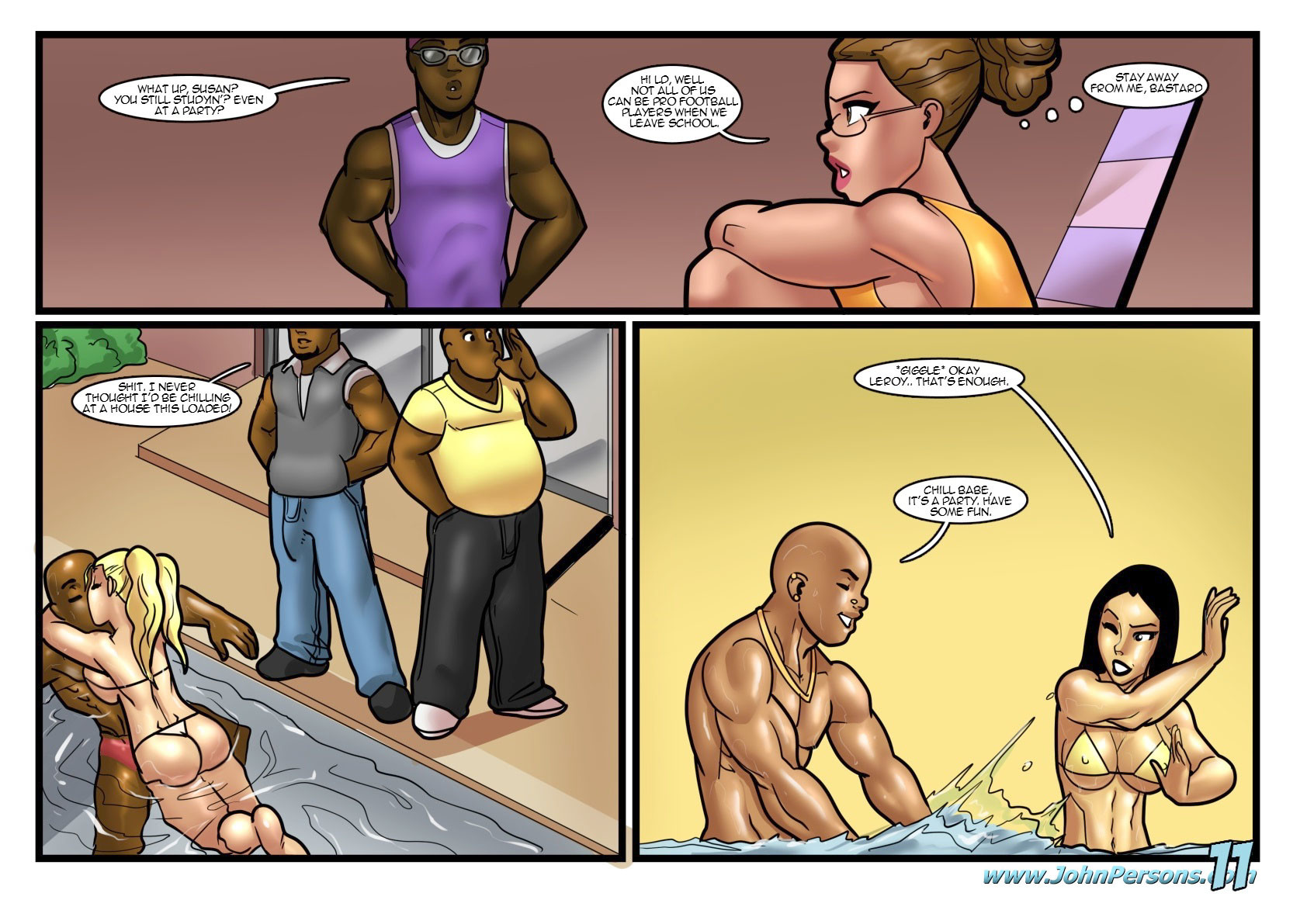 John Persons Comics Pool Party