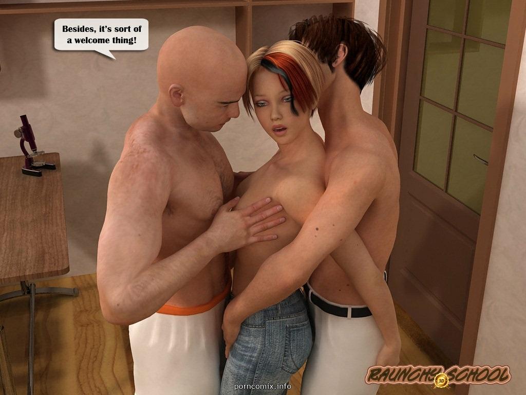 3D Sex Porn sex in college- raunchy school 8muses 3d porn comics - 8